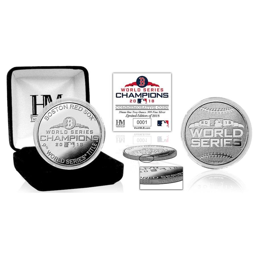 お取り寄せ MLB レッドソックス 2018 ワールドチャンピオン記念 ピュア シルバーミント コイン The Highland Mint