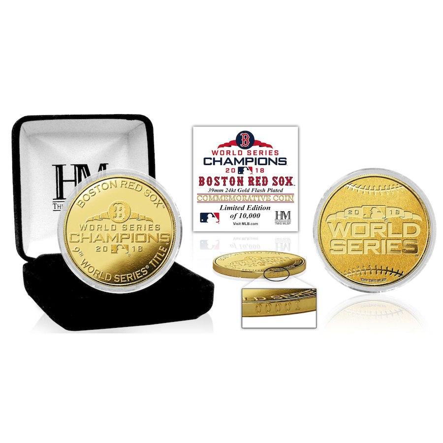 お取り寄せ MLB レッドソックス 2018 ワールドチャンピオン記念 ゴールドミント コイン The Highland Mint