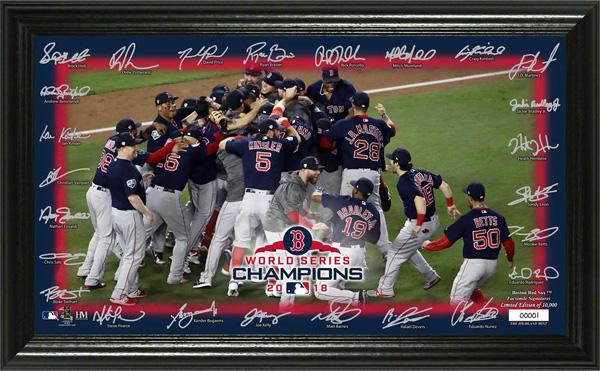 お取り寄せ MLB レッドソックス 2018 ワールドチャンピオン記念 セレブレーション シグネチャー フィールド パノラミック