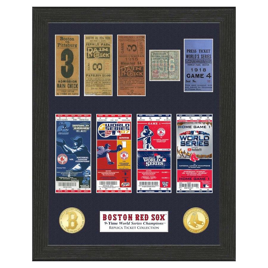 お取り寄せ MLB レッドソックス 2018 ワールドチャンピオン記念 9Time チャンプス チケット コレクション The Highland Mint