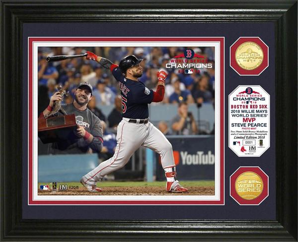 お取り寄せ MLB レッドソックス スティーブ・ピアース 2018 ワールドチャンピオン記念 ブロンズコイン フォトミント