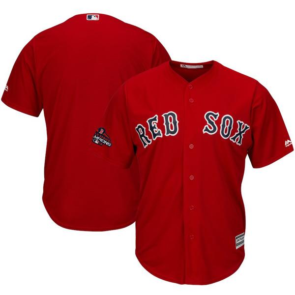 お取り寄せ MLB レッドソックス ユニフォーム/ジャージ 2018 ワールドチャンピオン記念 チームロゴ スカーレット