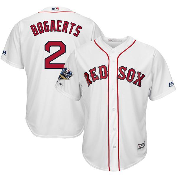 お取り寄せ MLB レッドソックス イグザンダー・ボガーツ ユニフォーム/ジャージ 2018 ワールドチャンピオン記念 レプリカ ホーム