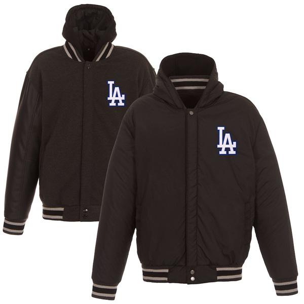 お取り寄せ MLB ドジャース ジャケット/アウター リバーシブル フルスナップ メンズ JH Design