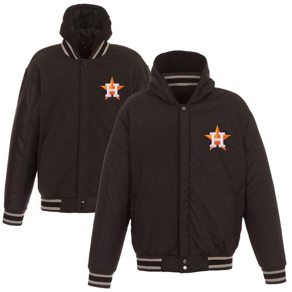 お取り寄せ MLB アストロズ ジャケット/アウター リバーシブル フルスナップ メンズ JH Design