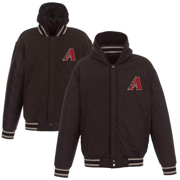 お取り寄せ MLB ダイヤモンドバックス ジャケット/アウター リバーシブル フルスナップ メンズ JH Design