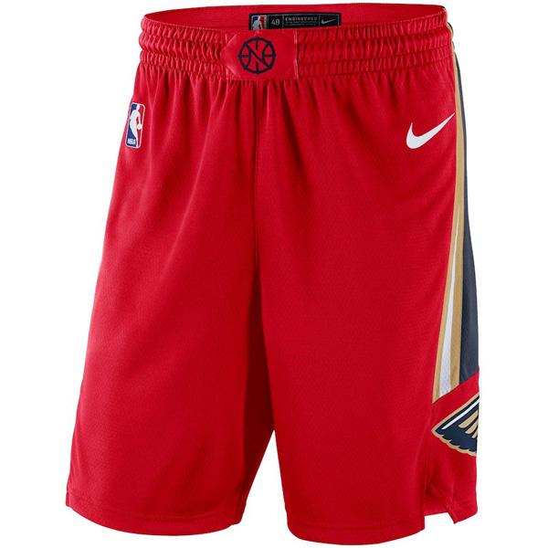 お取り寄せ NBA ペリカンズ ショートパンツ/ショーツ スウィングマン バスケットボール ステートメント ナイキ/Nike レッド