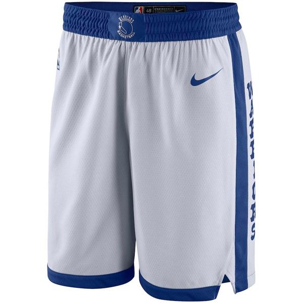 お取り寄せ NBA ウォリアーズ ショートパンツ/ショーツ スウィングマン ナイキ/Nike ホワイト