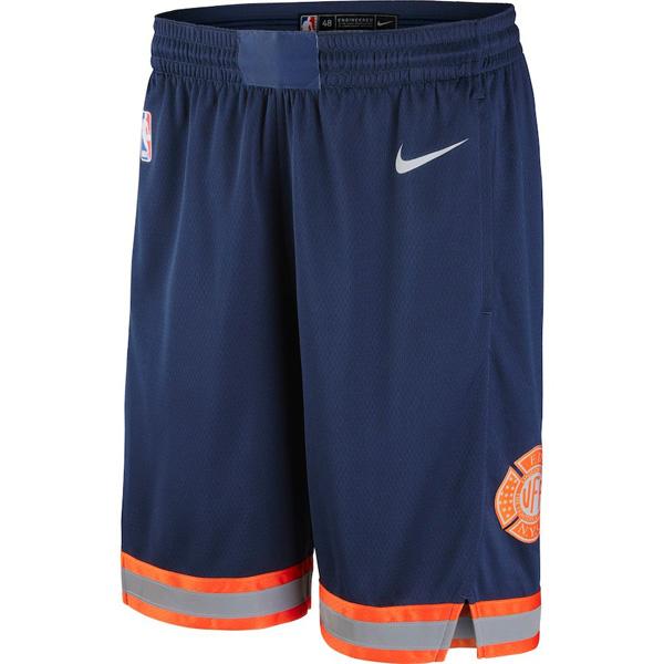 お取り寄せ NBA ニックス ショートパンツ/ショーツ スウィングマン シティ・エディション ナイキ/Nike ネイビー