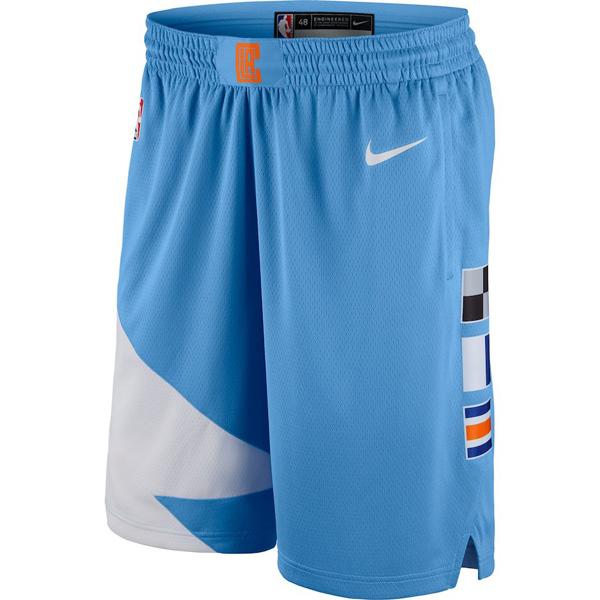 お取り寄せ NBA クリッパーズ ショートパンツ/ショーツ スウィングマン シティ・エディション ナイキ/Nike ブルー