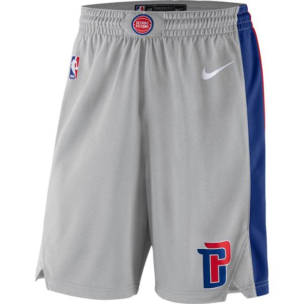 お取り寄せ NBA ピストンズ ショートパンツ/ショーツ スウィングマン バスケットボール ステートメント ナイキ/Nike シルバー