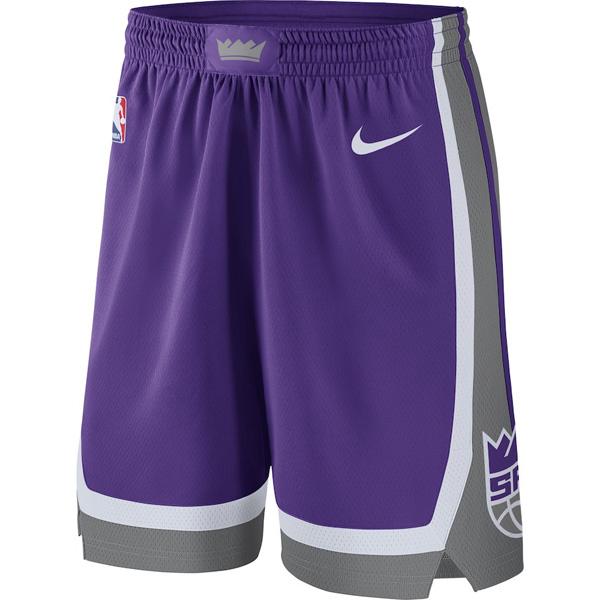 お取り寄せ NBA キングス ショートパンツ/ショーツ スウィングマン バスケットボール アイコン ナイキ/Nike パープル