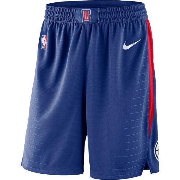 お取り寄せ NBA クリッパーズ ショートパンツ/ショーツ スウィングマン バスケットボール アイコン ナイキ/Nike ブルー