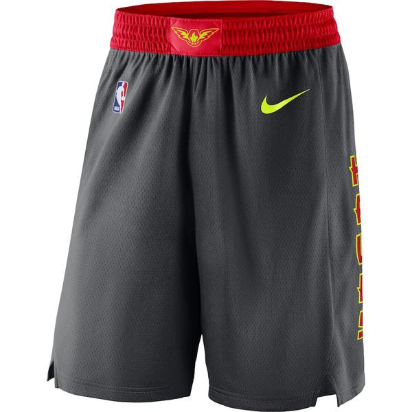 お取り寄せ NBA ホークス ショートパンツ/ショーツ スウィングマン バスケットボール アイコン ナイキ/Nike チャコール