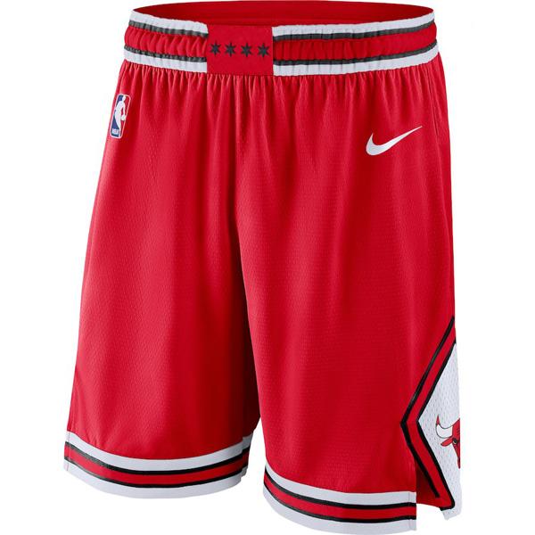 お取り寄せ NBA ブルズ ショートパンツ/ショーツ スウィングマン バスケットボール アイコン ナイキ/Nike レッド