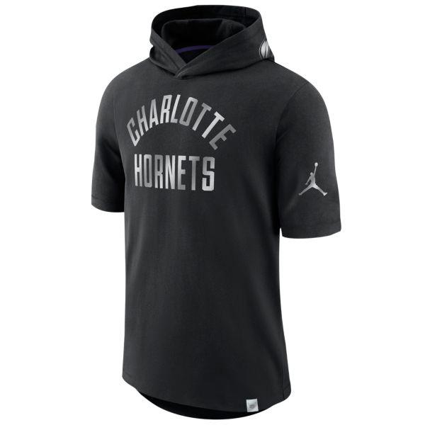 お取り寄せ NBA ホーネッツ Tシャツ ブラックアウト フード メンズ ナイキ/Nike ブラック