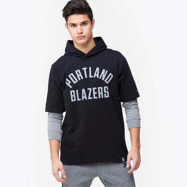 お取り寄せ NBA トレイルブレイザーズ Tシャツ ブラックアウト フード メンズ ナイキ/Nike ブラック