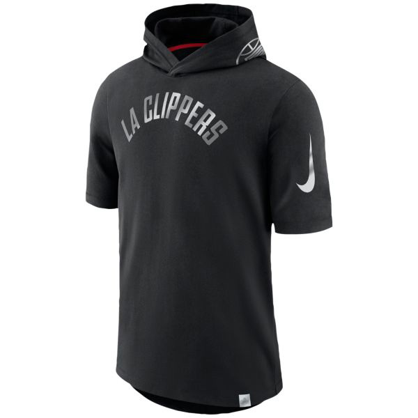 お取り寄せ NBA クリッパーズ Tシャツ ブラックアウト フード メンズ ナイキ/Nike ブラック