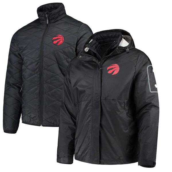 お取り寄せ NBA ラプターズ ジャケット/アウター 3WAY システムズ フルジップ メンズ G-III ブラック