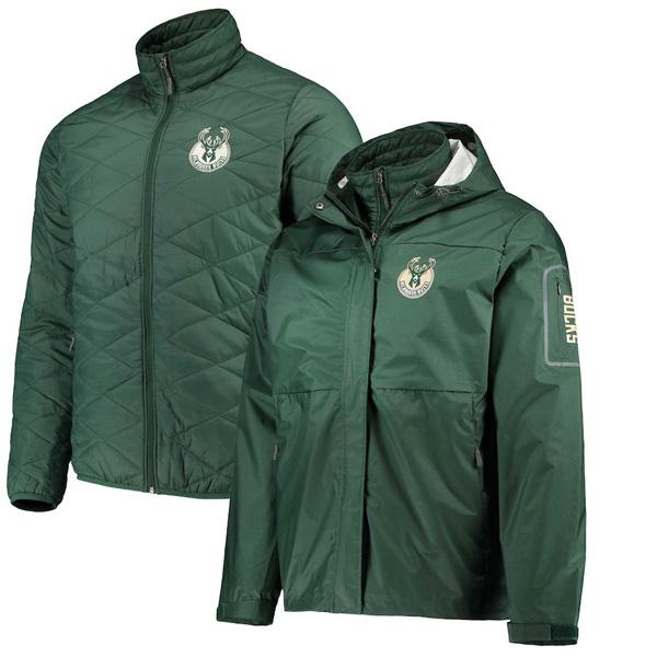 お取り寄せ NBA バックス ジャケット/アウター 3WAY システムズ フルジップ メンズ G-III Green