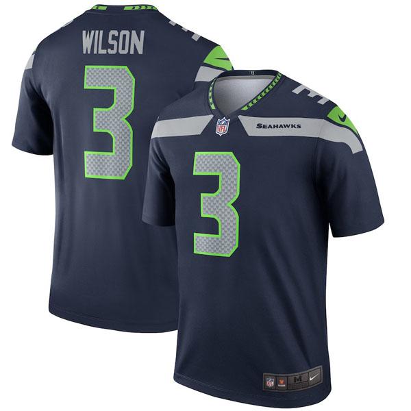 お取り寄せ NFL シーホークス ラッセル・ウィルソン ユニフォーム/ジャージ レジェンド ナイキ/Nike カレッジネイビー