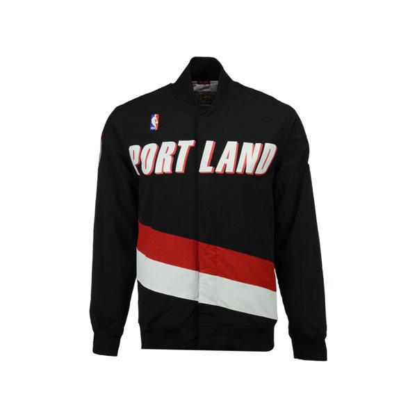お取り寄せ NBA トレイルブレイザーズ ジャケット/アウター オーセンティック ウォームアップ Mitchell & Ness ブラック