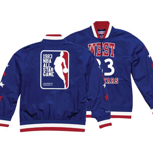 お取り寄せ NBA ジャケット/アウター オールスター ヒストリー ウォームアップ Mitchell & Ness ブルー