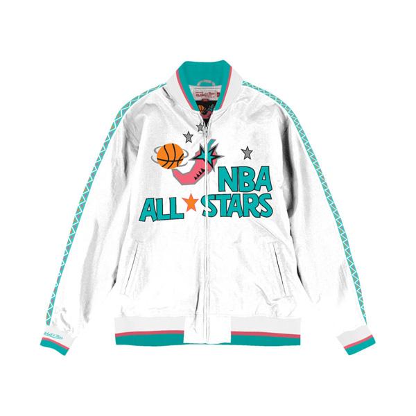 お取り寄せ NBA ジャケット/アウター オールスター 1996 ウォームアップ Mitchell & Ness ホワイト