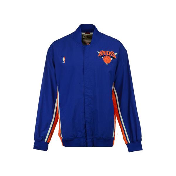 お取り寄せ NBA ニックス ジャケット/アウター オーセンティック ウォームアップ Mitchell & Ness ブルー