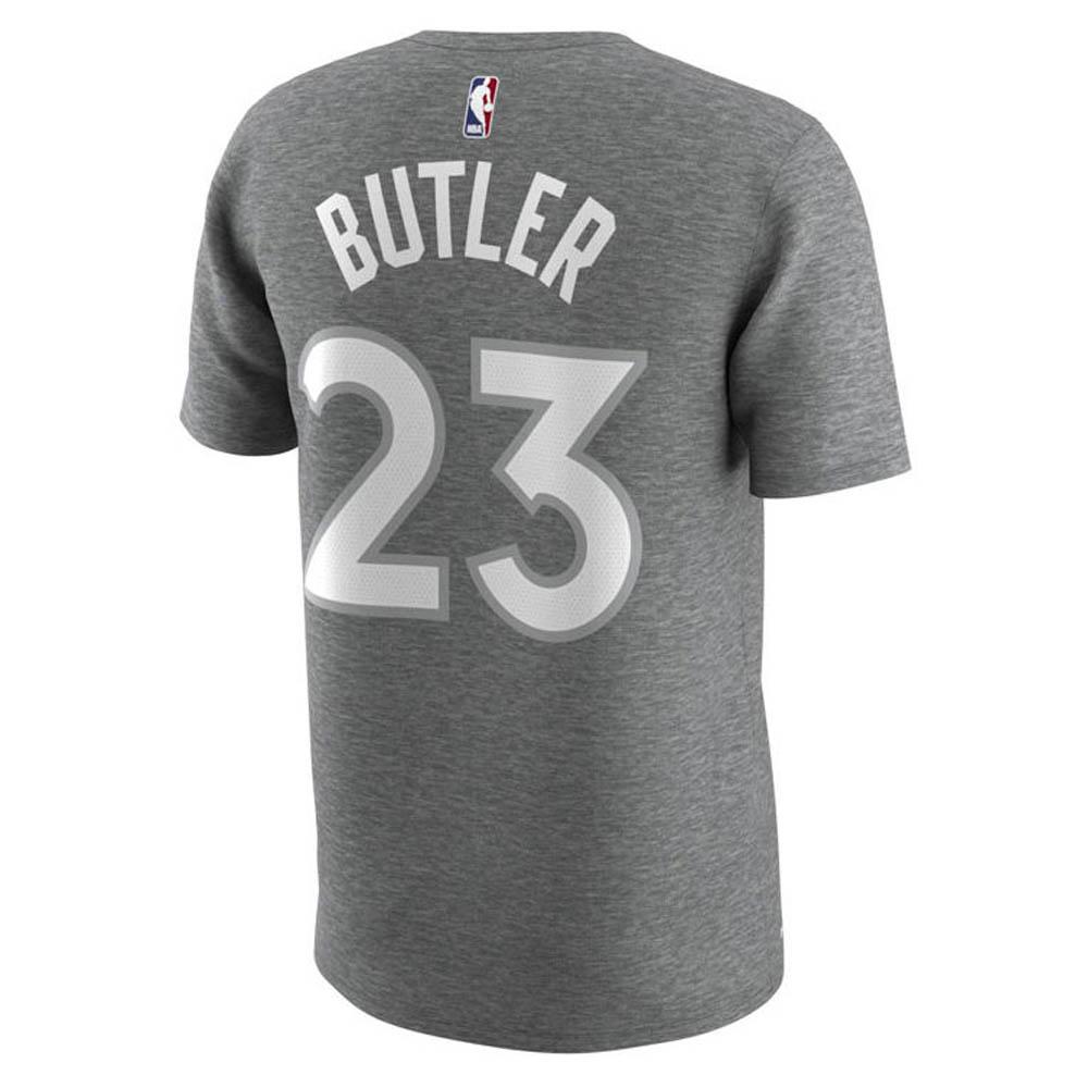 best cheap d4e35 c3435 NBA Timberwolves Jimmy Butler T-shirt city player Nike /Nike Heather gray