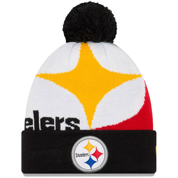 MLB NBA NFL Goods Shop  Order NFL Steelers knit cap   knit hat ロゴカフドニューエラ   New Era black  8166dd07bc8