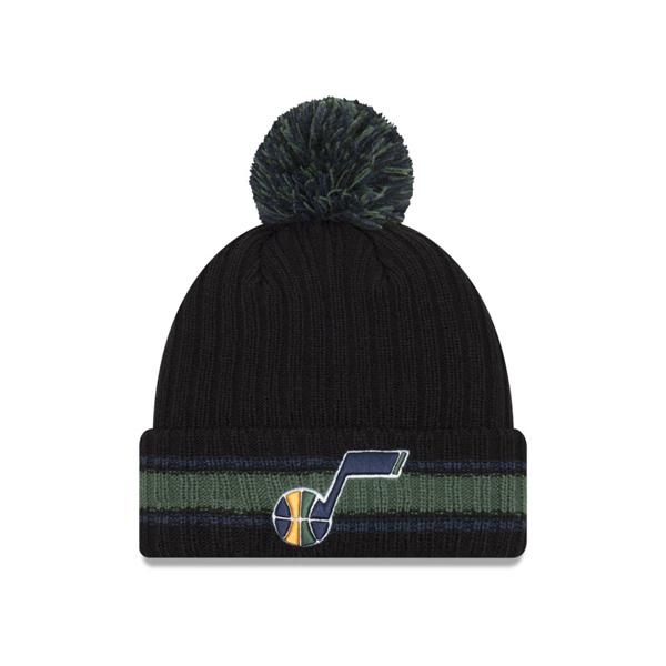 お取り寄せ NBA ジャズ ニットキャップ/ニット帽 ベーシック チャンキー ポム UNK ブラック