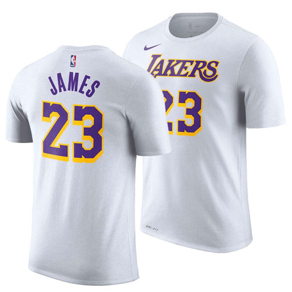 NBA Tシャツ レイカーズ レブロン・ジェイムス アソシエーション エディション ネーム&ナンバー パフォーマンス ナイキ/Nike ホワイト