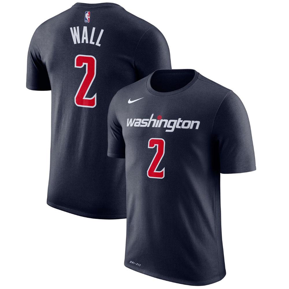 八村塁選手所属 ウィザーズ NBA Tシャツ ジョン・ウォール ナイキ Nike ネイビー 870814-419【トレーニング特集】