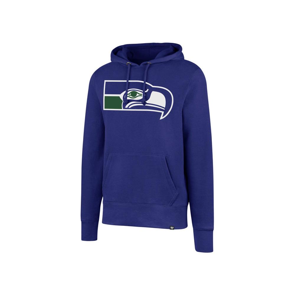 お取り寄せ NFL シーホークス パーカー/フーディー レトロ ノックアラウンド メンズ 47 Brand ブルー
