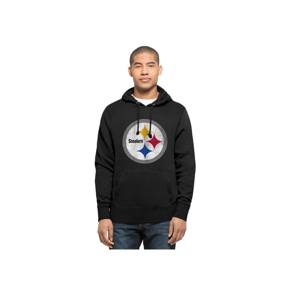 お取り寄せ NFL スティーラーズ パーカー/フーディー レトロ ノックアラウンド メンズ 47 Brand ブラック
