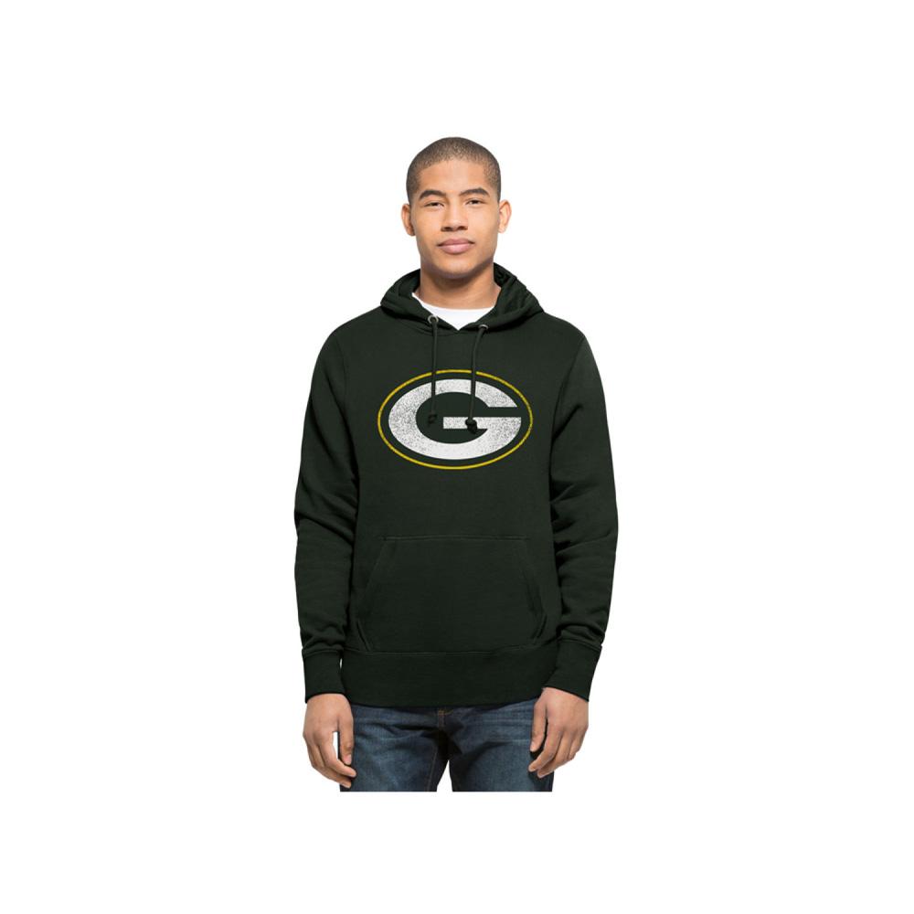 お取り寄せ NFL パッカーズ パーカー/フーディー レトロ ノックアラウンド メンズ 47 Brand グリーン