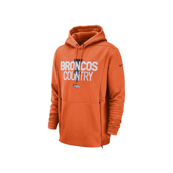 お取り寄せ NFL ブロンコス パーカー/フーディー サイドライン ローカル サーマ ナイキ/Nike オレンジ