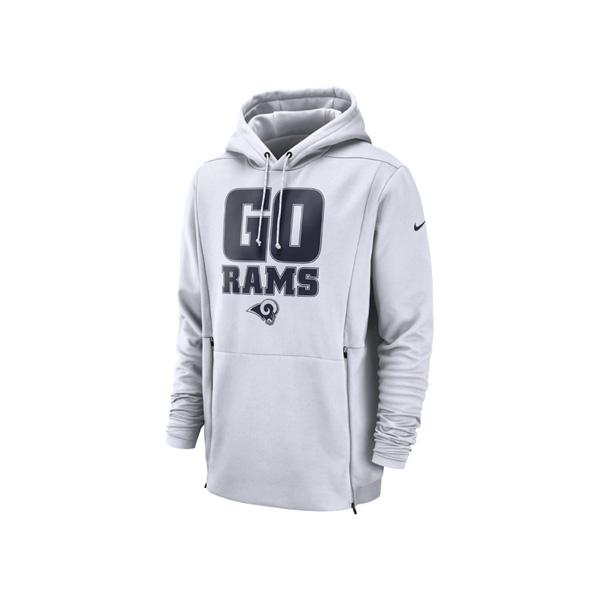 お取り寄せ NFL ラムズ パーカー/フーディー サイドライン ローカル サーマ ナイキ/Nike ホワイト