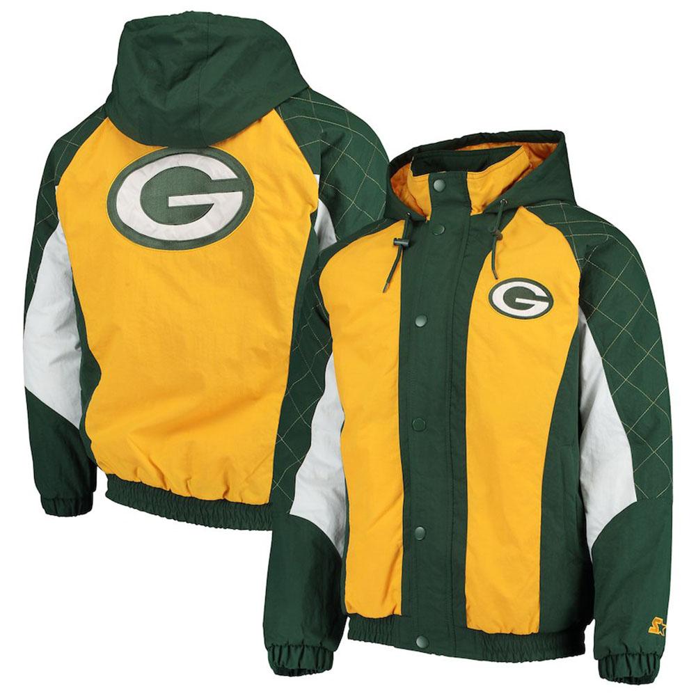 online retailer 8d517 f777d NFL Packers jacket / アウターヘビーヒッターフルジップスナップフーディ / hooded starter /Starter