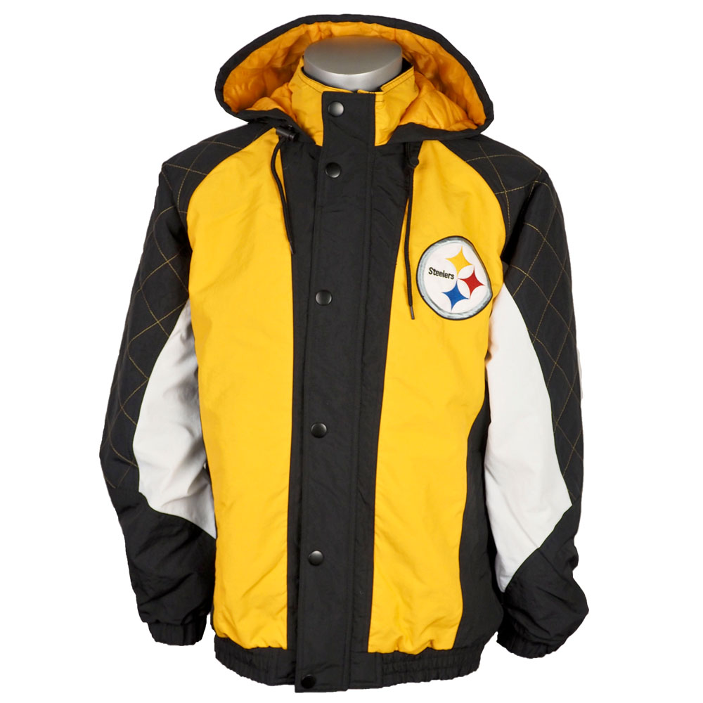 new products 4371a 393fe NFL Steelers jacket / アウターヘビーヒッターフルジップスナップフーディ / hooded starter /Starter