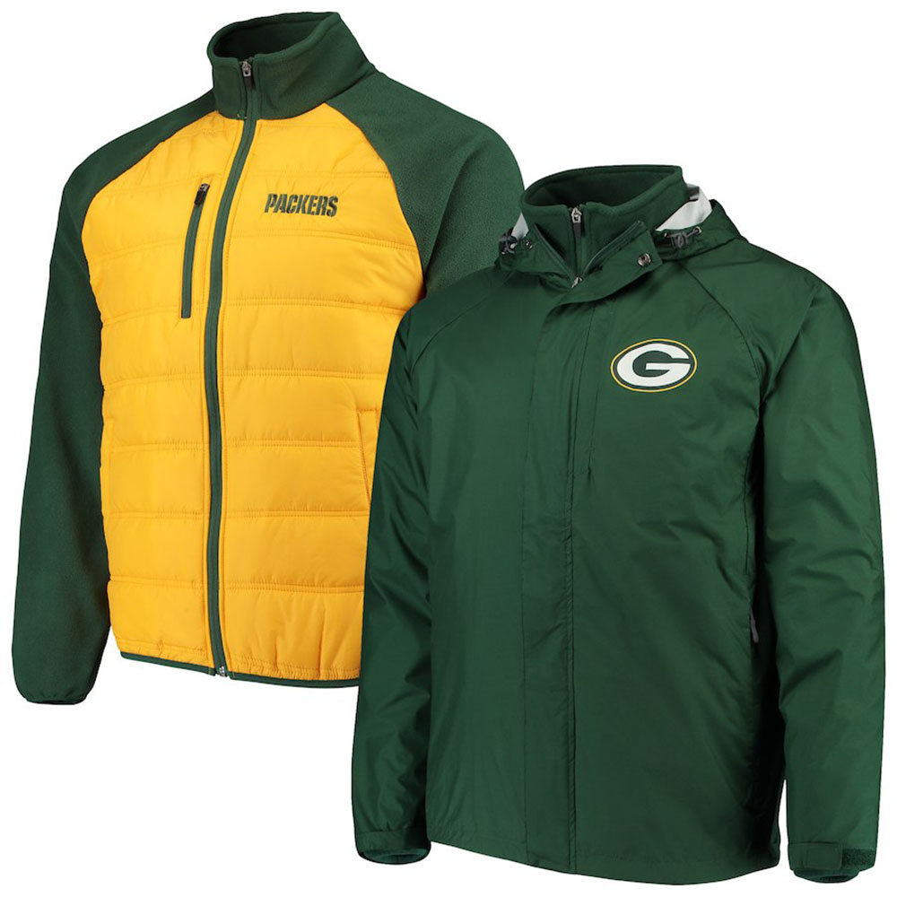 premium selection b7c01 8438c NFL Packers jacket / outer rain force system G-III