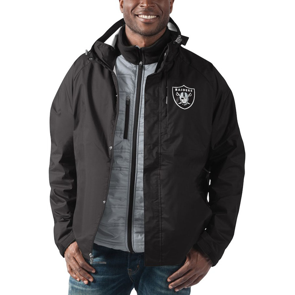 new concept cf123 d2dff NFL Raiders jacket / outer rain force system G-III