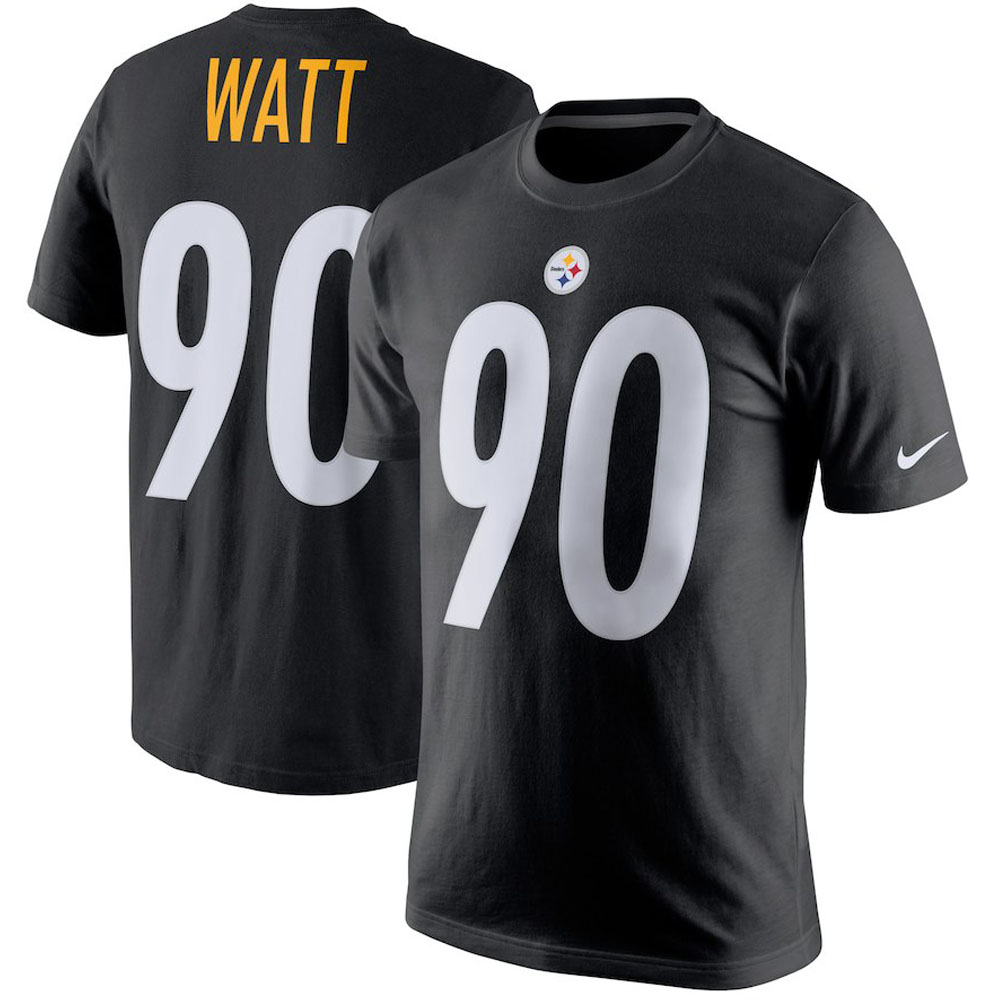 on sale 56511 a1859 NFL Steelers T J watt T-shirt player pride name & number Nike /Nike black