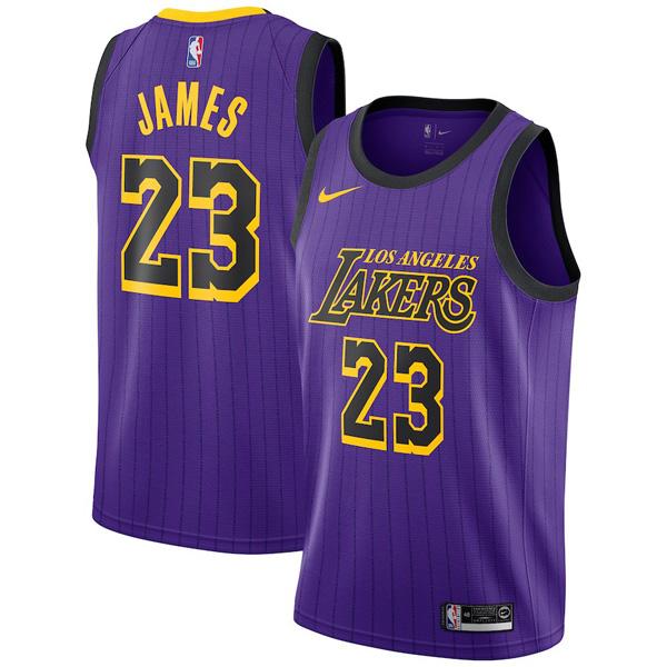 NBA レイカーズ レブロン・ジェイムス ユニフォーム/ジャージ スウィングマン シティ・エディション ナイキ/Nike