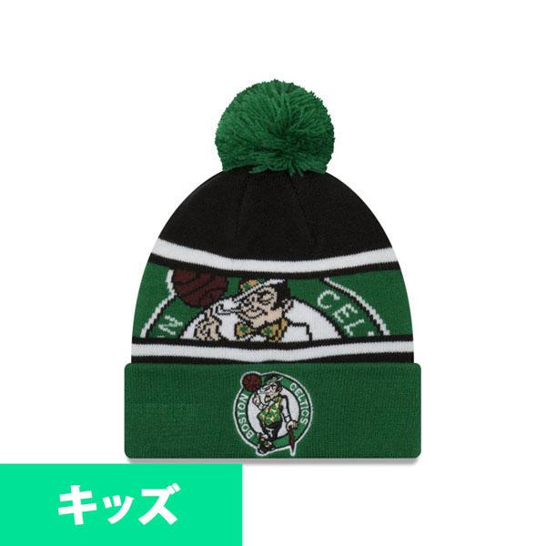 6499a5eeed7307 MLB NBA NFL Goods Shop: New gills /New Era is green NBA Celtics knit cap / knit  hat kids plonk   Rakuten Global Market