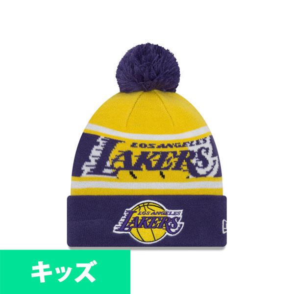 96f0220d5aff29 MLB NBA NFL Goods Shop: It is new gills /New Era purple order order NBA  Lakers knit cap / knit hat kids plonk   Rakuten Global Market