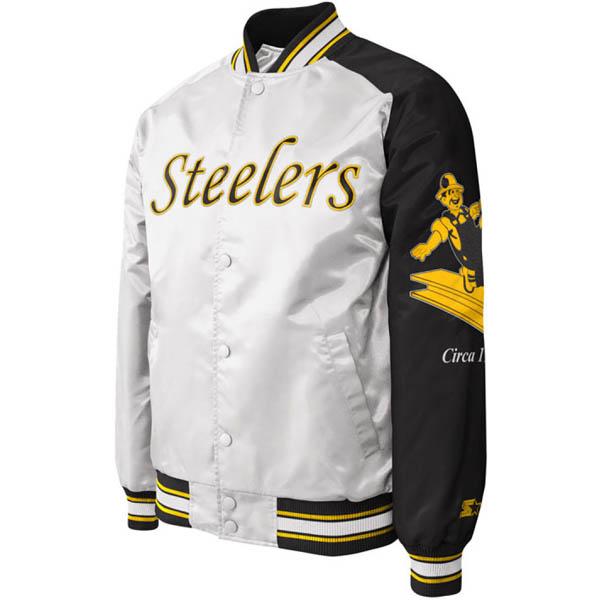 お取り寄せ お取り寄せ NFL スティーラーズ ジャケット/アウター ダグアウト シップ サテン スターター/STARTER ホワイト