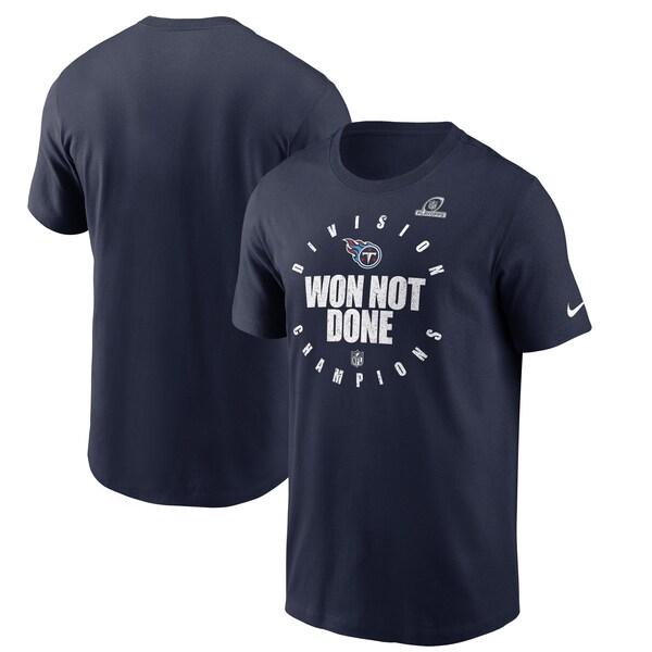 2020AFC南地区優勝記念アイテム NFL 春の新作 Tシャツ tシャツ 半袖 タイタンズ 注目ブランド Nike 2020AFC南地区優勝記念 ネイビー NFLPO2020 ナイキ