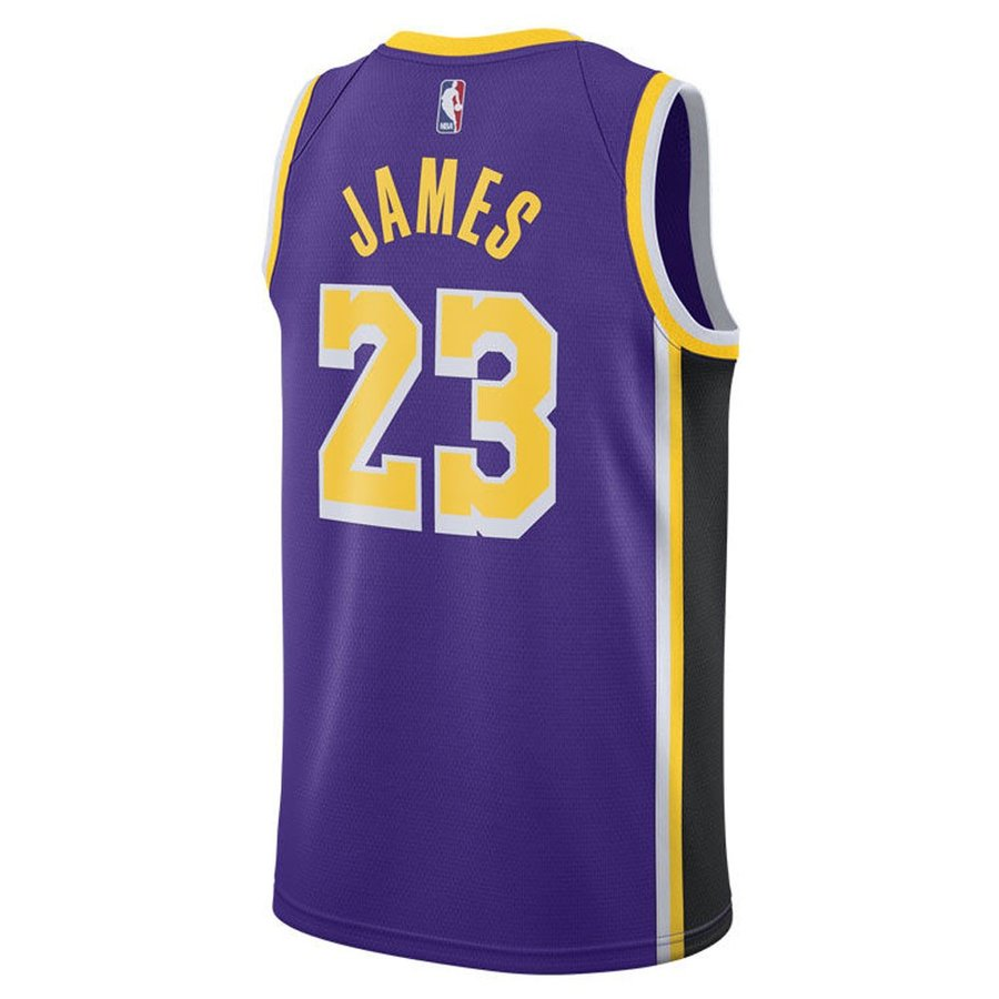 ef7bc852c206 NBA Lakers Revlon James uniform   jersey 2018 19 swing man statement Nike   Nike purple AA7097-514